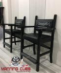 Black Chair Unit with Diamond Embroidered Logo