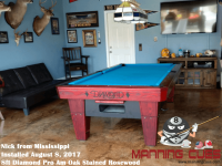 Nick's 8ft Pro Am Rosewood Oak Tables from Mississippi