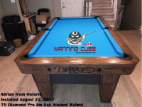 Adrians 7ft Pro AM Oak Stained Walnut from Ontario