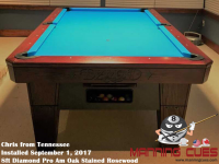 Chris's 8ft Pro Am Rosewood Oak Table from Tennessee