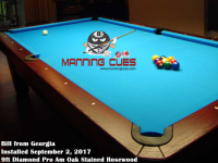 Bill's 9ft Pro Am Rosewood Oak Table from Georgia