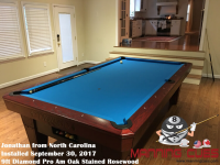 Jonathan's 9ft Pro AM Rosewood Oak Table from North Caralina