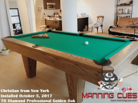 Christian's 7ft Diamond Professional in Golden Oak from New York