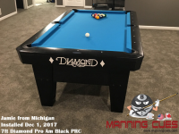 Jamie's 7ft Pro Am Black PRC Table from Michigan