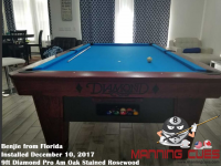 Benjie's 9ft Pro AM Oak Stained Rosewood Table from Florida