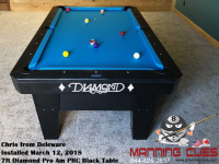 Chris's 7ft Pro Am Black PRC Table from Deleware