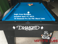 Angie's 7ft Pro Am PRC Black table from Michigan