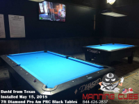 David's 7ft Pro Ams Black PRC Table from Texas