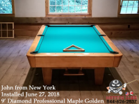 John's 9' Professional in Maple with Golden Stain from New York