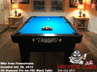 Mike's 8ft Pro Am Black PRC Table from Pennsylvania