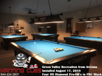 Green Valley's 9' Pro-AM PRC Black Tables from Arizona