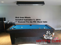 Ricks's 7' Pro AM PRC Black Table from Illinois