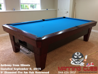 Anthony's 9' Pro AM Oak Rosewood Table from Illinois