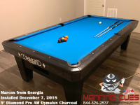 Marcos's 9' Pro Am Dymalux Charcoal Table from Georgia