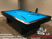John's 9' Pro Am Oak Black Table from Iowa