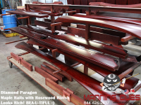 Maple Rosewood Rails drying in the Factory