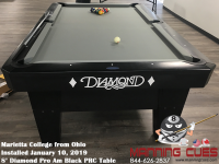 Marietta College's 8' Pro Am Black PRC Table from Ohio