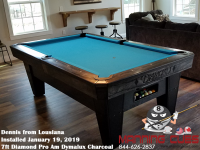 Dennis's 7' Pro Am Dymalux Charcoal Table from Louisiana