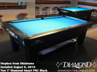 Stephen's  Two 7' Pro Am PRC Black Tables from Oklahoma