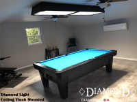 Diamond Light flush mounted to the ceiling