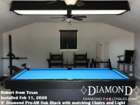 Robert's 9' Pro-AM Oak Black with matching Chair Unit and Light from Texas