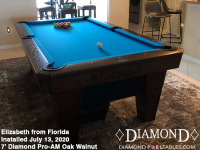 Elizabeth's 7' Pro-AM Oak Walnut from Florida
