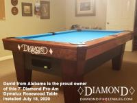 David from Alabama 7' Pro-AM Dymalux Rosewood