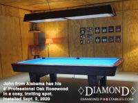 Diamond 9' Professional oak rosewood - John from Alabama - installed sept 2, 2020