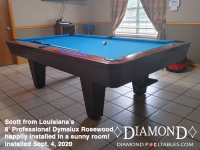 DIAMOND 8' PROFESSIONAL DYMALUX ROSEWOOD SCOTT FROM LOUISIANA INSTALLED SEPT 4, 2020