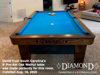 DIAMOND 9' PRO-AM OAK WALNUT - DAVID FROM SOUTH CAROLINA - IN AUG 16, 2020