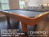 DIAMOND 9' PROFESSIONAL OAK CLEAR - ERIC FROM TENNESSEE - INSTALLED SEPTEBMER 17, 2020