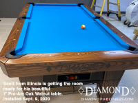 DIAMOND 7' PRO-AM OAK WALNUT - SCOTT FROM ILLINOIS - INSTALLED SEPTEMBER 9, 2020