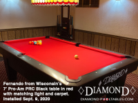 DIAMOND 7' PRO-AM PRC BLACK - FERNANDO FROM WISCONSIN - INSTALLED SEPTEMBER 9, 2020