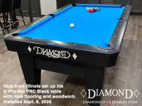 DIAMOND 8' PRO-AM PRC BLACK - NICK FROM ILLINOIS - INSTALLED SEPTEMBER 9, 2020