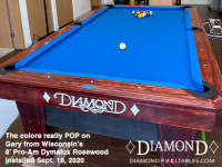 DIAMOND 8' PRO-AM DYMALUX ROSEWOOD - GARY FROM WISCONSIN - INSTALLED SEPTEMBER 10, 2020