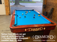DIAMOND 7' PRO-AM DYMALUX ROSEWOOD - NATHAN FROM ILLINOIS - INSTALLED SEPTEMBER 17, 2020
