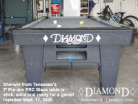 DIAMOND 7' PRO-AM PRC BLACK - SHERWIN FROM TENNESSEE - INSTALLED SEPTEMBER 18, 2020