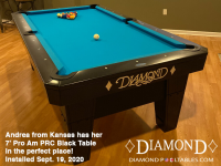 DIAMOND 7' PRO-AM PRC BLACK - ANDREA FROM KANSAS - INSTALLED SEPTEMBER 19, 2020
