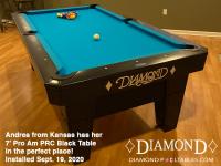 DIAMOND 7' PRO-AM PRC BLACK - ANDREA FROM KANSAS - INSTALLED SEPTEMBER 19, 2020