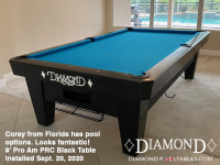 DIAMOND 9' PRO-AM PRC BLACK - COREY FROM FLORIDA - INSTALLED SEPTEMBER 20, 2020