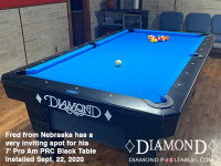 DIAMOND 7' PRO-AM PRC BLACK - FRED FROM NEBRASKA - INSTALLED SEPTEMBER 22, 2002