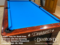 DIAMOND 8' PRO-AM DYMALUX ROSEWOOD - SCOTT FROM ARKANSAS - INSTALLED SEPTEMBER 28, 2020