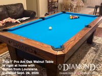 DIAMOND 7' PRO-AM OAK WALNUT - CULLEN FROM LOUISIANA - INSTALLED SEPTEMBER 29, 2020