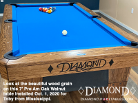 DIAMOND 7' PRO AM OAK WALNUT - TOBY FROM MISSISSIPPI - INSTALLED OCTOBER 1, 2020