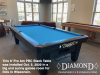 DIAMOND 9' PRC BLACK PRO-AM - RICK FROM WISCONSIN - INSTALLED OCTOBER 5, 2020