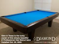 DIAMOND 9' PROFESSIONAL OAK WALNUT - GLEN FROM TEXAS - INSTALLED OCTOBER 25, 2020