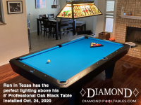 DIAMOND 8' PROFESSIONAL OAK BLACK - RON FROM TEXAS - INSTALLED OCTOBER 24, 2020