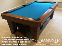 DIAMOND 7' PRO-AM OAK BROWN CHERRY - GORDON FROM VIRGINIA - INSTALLED OCTOBER 8, 2020