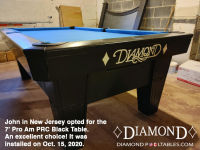 DIAMOND 7' PRO-AM PRC BLACK - JOHN FROM NEW JERSEY - INSTALLED OCTOBER 15, 2020