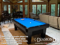 DIAMOND 7' PRO-AM OAK BLACK - DAVID FROM WISCONSIN - INSTALLED OCTOBER 25, 2020